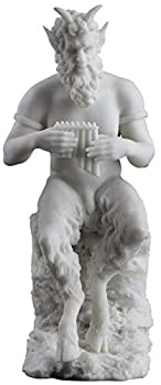 JFSM INC Pan Playing Flute on Rock Statue - Greek God of The Wild and Nature
