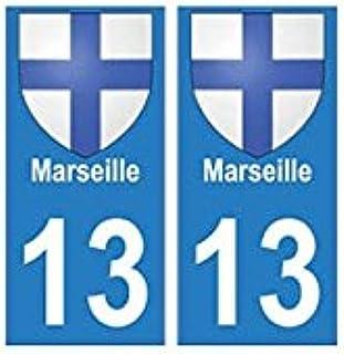 EUSKAL HERRIA EH: 13, Marsella ciudad, pegatina para placa de matrícula francesa: Amazon.es: Coche y moto