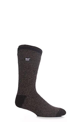 Heat Holders 1 paire de chaussettes pour homme, thermiques, chaudes pour l'hiver, taille 39–45, noires/grises