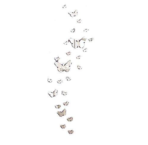 Maolanku 30PC farfalla Combinazione DIY 3D specchio adesivi murali della decorazione della casa