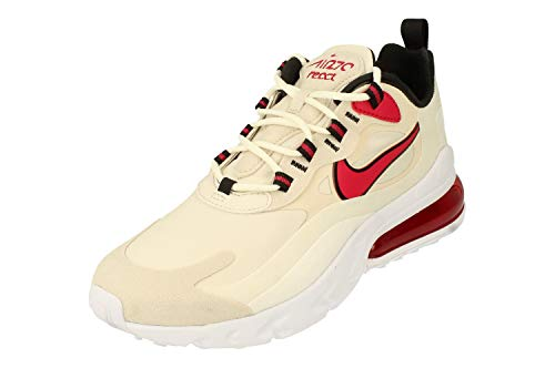 Nike Air MAX 270 React Hombre Running Trainers CT1280 Sneakers Zapatos (UK 6 US 6.5 EU 39, Light Orewood beown Cardinal Red 102)
