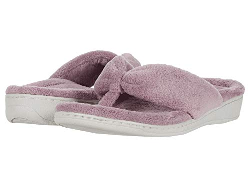Vionic Women's Indulge Gracie Slipper - Ladies Toe-Post Thong Slippers with Concealed Orthotic Arch Support Lavender 12 Medium US