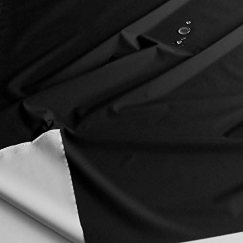 TOLKO Outdoor-Stoff Wasserdicht   Leichter NylonStoff als Meterware   für Regenjacke Plane Regenschutz 140cm breit (Schwarz Asphalt)