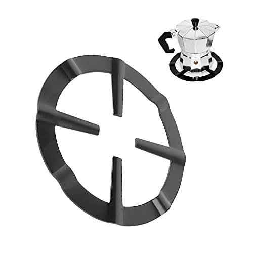 Anillo de hierro fundido para wok, soporte de olla Moka negro, quemador de gas redondo, parrilla, soporte, soporte para cocina