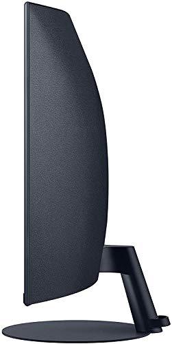 Samsung C32T550FDR 80,01 cm (32 Zoll) Curved Monitor (1.920 x 1.080 Pixel, 16:9 Format, 75 Hz, 4ms, 1000R, dual monitor geeignet, pc monitor, AMD FreeSync) dunkelblaugrau