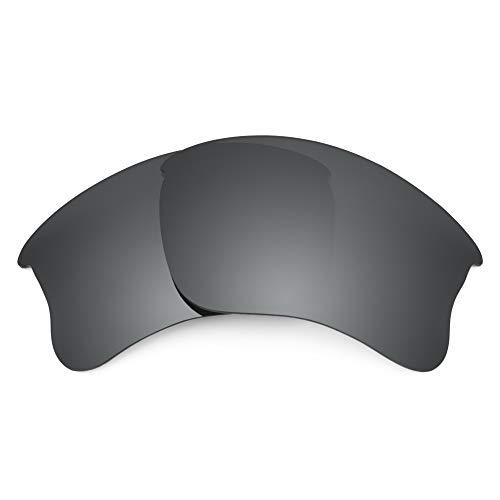 Revant Ersatzgläser für Oakley Flak Jacket XLJ, Polarisiert, Elite Schwarz Chrome MirrorShield