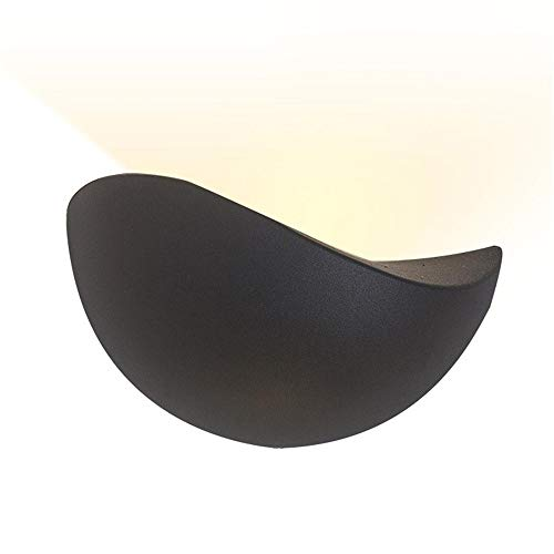 KDXBCAYKI wandlamp, led, eenvoudig, voor allee, trap, slaapkamer, bedlampje, wandlamp, aangename sfeer White light zwart.