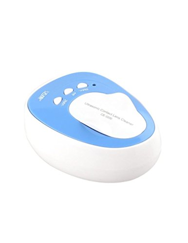 Kowellsonic CE-3200 Mini Ultrasonic Contact Lens Cleaner Kit Daily Care Fast Cleaning New (Label)-Blue