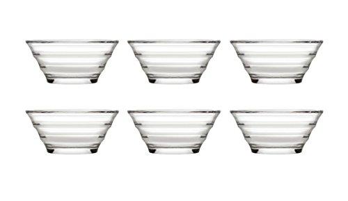 Pasabahce 53932 Gastroboutique - 6er Set Mini-Schüssel aus Glas (Ø 8,2 cm), Glas-Schälchen, Dipschale, Dessertschale, Mezeschale, Tapasschale, 6 Stück