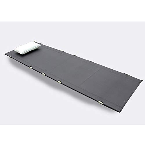 Black Portable Ultra Stevige wasbaar en Tear-Proof Folding Camping Kinderbedjes Slapen Bed, van de grond voor outdoor activiteiten Gewicht Capaciteit: 150kg (330Lb)