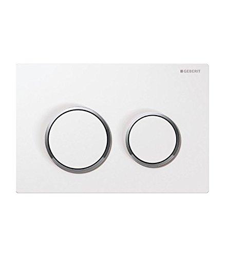 Geberit Betätigungsplatte mit WC-Betätigungsplatte OMEGA 20, weiß/chrom glänzend