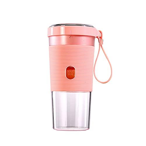 Blender Portátil, Mini Licuadora para Beber con Una Mano para Batidos Y Batidos, Jugo De Frutas Personales, Batidos De Leche con Taza De Viaje,Rosado