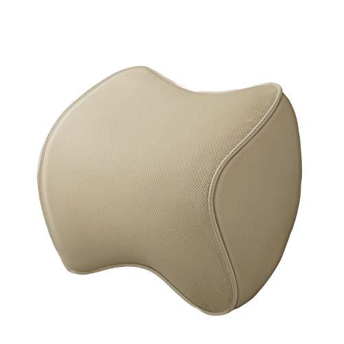 Tevimpeya - Cuscino poggiatesta per auto, in cotone memory foam, cuscino di sostegno per il collo