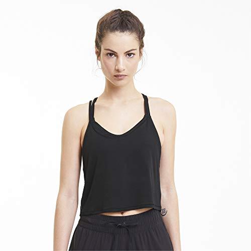 PUMA Studio Strappy Tank Camiseta De Tirantes, Mujer, Black, L