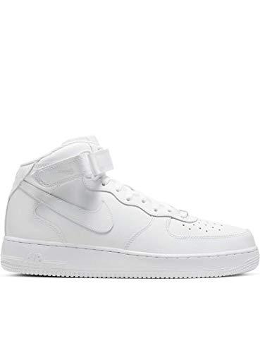 Nike Air Force 1 Mid Le (GS), Scarpe da Basket, White/White, 38 EU