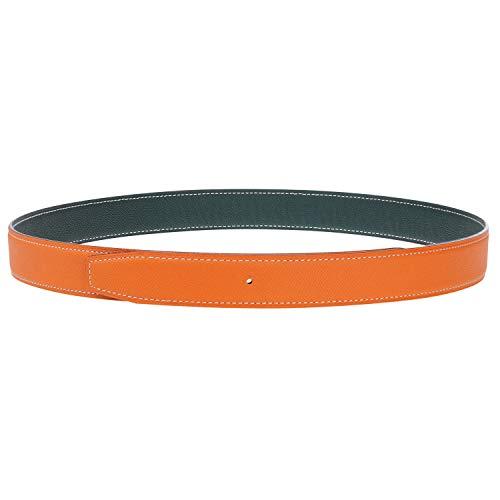 Reemplazo Cinturones de Cuero Correa Reversible Doble Cara Cuero Genuino Cinturones de Repuesto 32mm Ancho - Para H Hebilla