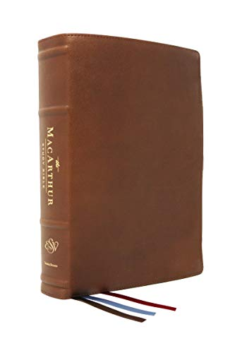 ESV MacArthur Study Bible, The, 2nd Edition, Premium Goatskin Leather, Brown, Premier Collection: Unleashing God's Truth One Verse at a Time