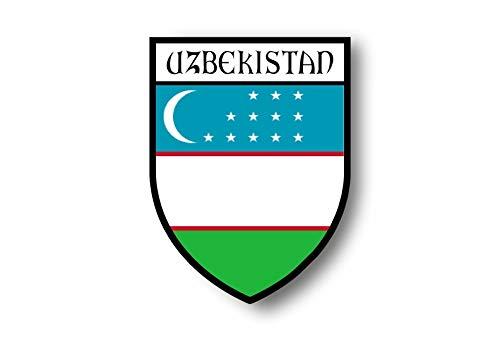 Akachafactory Aufkleber Sticker autoaufkleber Wappen Schild Flagge flaggen Fahne usbekistan