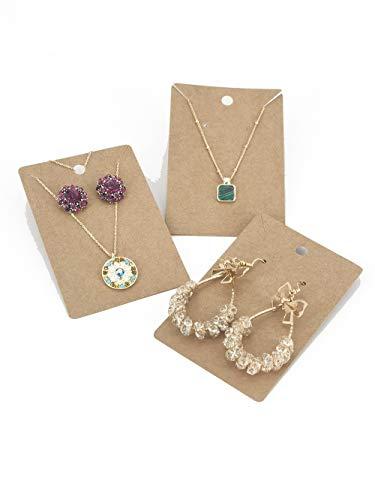 HUAPRINT Jewelry Display Card(Brown, 500 Pack)-Bracelet Display Card-Necklace Display Cards-Earring Cards-Earring Card Holder