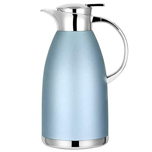 Lopbinte 61Oz Jarra de Café Airpot Aislamiento Termo de Café Urna Acero Inoxidable VacíO Olla TéRmica Frasco para Café, Azul