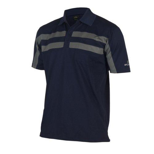 Stuburt Clubhouse T-Shirt à Double Rayure pour Homme Midnight/Mercury Small