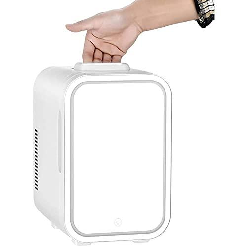 Mini Refrigerador De Maquillaje De 10L con Espejo De Maquillaje, Refrigerador De Cosméticos, Enfriador Termoeléctrico Y Calentador para Productos De Perfumería para El Cuidado De La Piel