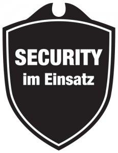 KLK Security im Einsatz Autoschild, Schwarz, One Size