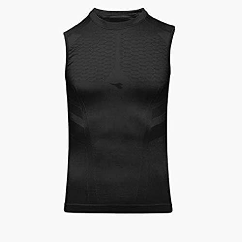 Diadora Canotta Smanicata Intima Termica da Uomo SL T-Shirt Act (S/M, Black)