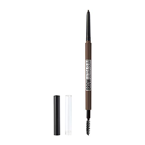 Maybelline New York Brow Ultra Slim Defining Eyebrow Makeup Mechanical Pencil with 1.55 MM Tip & Blending Spoolie For Precisely Defined Eyebrows, Deep Brown, 1 Count