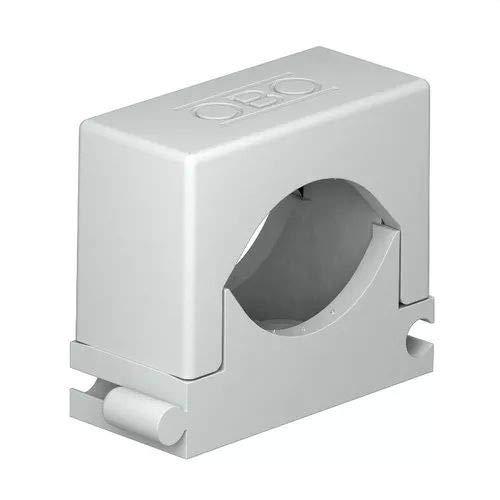 OBO Bettermann 2250209 Polyamid-Klemmen, lichtgrau, 12-20 mm, 50 Stück