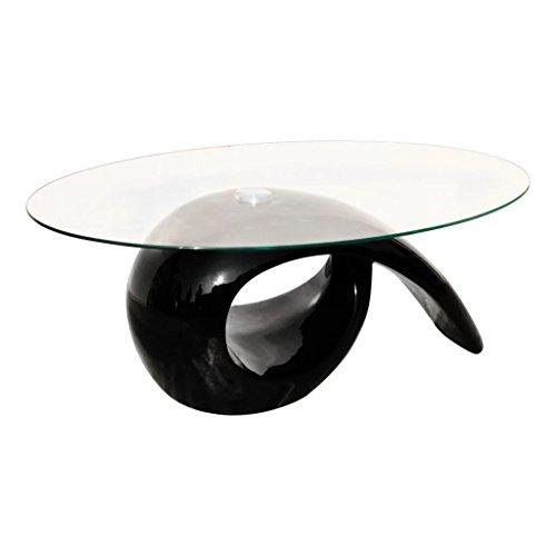 Mesa de Centro, Vidrio Templado + Plásticos Reforzados con Fibra de Vidrio 115 x 64 cm