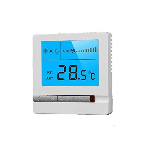 Termostato Central de Aire Acondicionado, termostato de Panel de calefacción de Piso Pantalla LCD de Aire Acondicionado Central ABS Incorporado