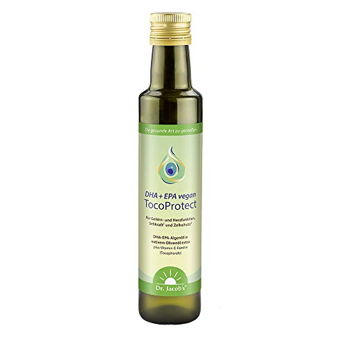 Dr. Jacob's DHA + EPA vegan TocoProtect - 250 ml Flasche (50 Portionen)