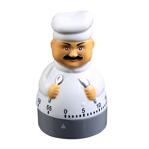 Timers 60 Minutes Mechanical Timers Kitchen Cooking Timer Clock Loud Alarm Counters Manual Timer(Chef)