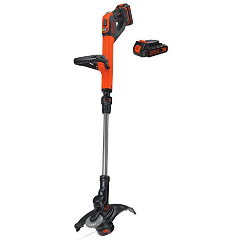 Read About BLACK+DECKER LSTE525 20V MAX Lithium Easy Feed String Trimmer/Edger with 2 Batteries
