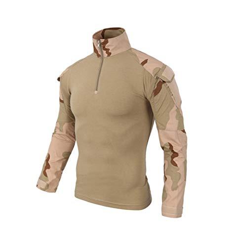 TH&Meoostny Militäruniform Tarnung Kampfgeprüft oder Rapid Assault Langarmhemd Battle Strike SD TOP S