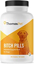 Thomas Pet Bitch Pills - Prenatal Supplement for Dogs - Supports Overall Health & Milk Production in Female Dogs - Vitamin Supplement That Supports Pregnancy & Nursing in Dogs - 120 Tablets