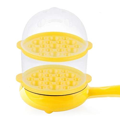 SISHUINIANHUA Eierkocher Kessel Eierkocher Steamer Elektro Bratpfanne Friteusen Heizung Topf Küchengerät Wasser-Heizung Ausrüstung Kochen,Gelb