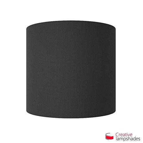 Halve Cilinder Muur Lampenkap Zwart Canvas bekleding met doos