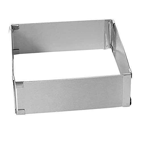 CksEKD Adjustable Stainless Steel Cake Mould Baking Square Form Ring Home Rectangular Bread Pan Mold Baking Tools