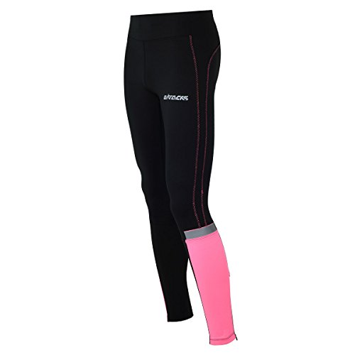 Airtracks Damen Thermo FUNKTIONS Laufhose/Running Tight/Thermohose/Reflektoren - LANG - S - pink