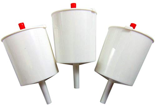 White Plastic Push Button Lever Hand Communion Cup Filler for Church 5 Inch, Set of 3