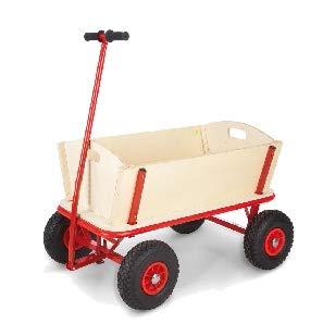 RAMROXX 34185 Holz Karre Handwagen Planwagen Bollerwagen bis 100 Kg