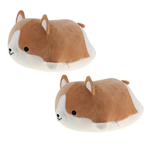 lahomia Juego de 2 Shiba Inu Plush Soft Hugging Cartoon Dog Toy Gift Kawaii