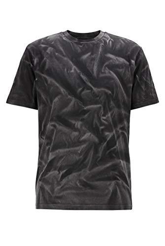 BOSS Herren Tsoil Regular-Fit T-Shirt aus Reiner Baumwolle mit Bleich-Spray-Finish