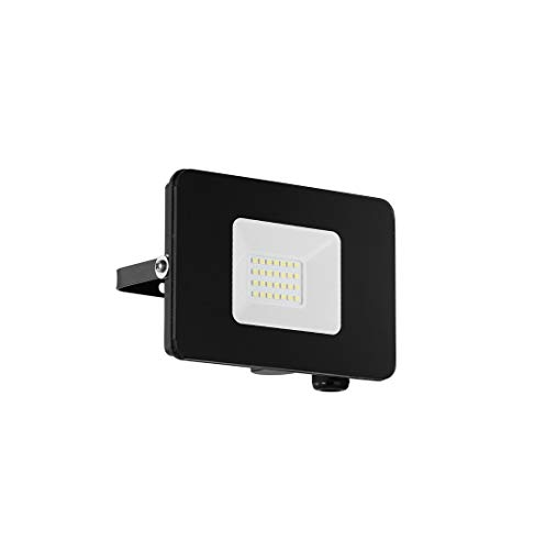 EGLO LED Außen-Strahler Faedo 3, 1 flammige Außenleuchte, Wandstrahler aus Alu, Farbe: Schwarz, Glas: klar, 20 Watt, IP65