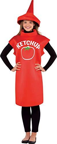amscan 844267-55 Kostüm Ketchup, Gr. M/L, rot