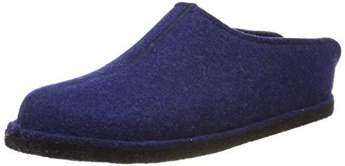 Haflinger Flair Smily, Pantoffeln, Unisex-Erwachsene, Filz aus reiner Wolle, Blau (Kaskade 68), 38 EU