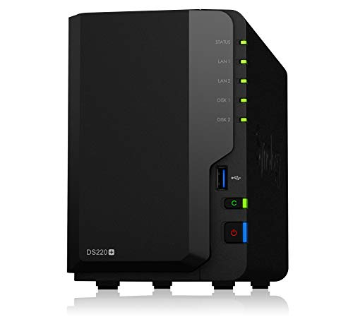 Synology NAS de 4 bahías DiskStation DS420+ (sin Disco), DS220+, 2-Bay; 2GB DDR4