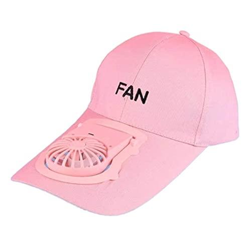 XIANGQIAN Sombrero Abanico Ventilador Carga USB Gorra béisbol Letras Bordado Protector Solar al Aire Libre Deporte Mini Enfriador Velocidad Ajustable Camionero Sombrero papá